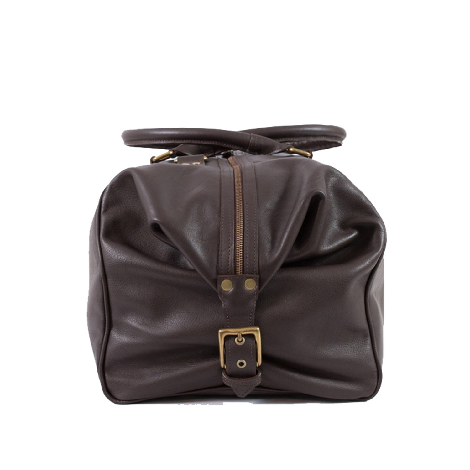 Pampa Puro  Large Chocolate Brown Handmade Leather Duffle Bag   ROQUE 3fd7138613
