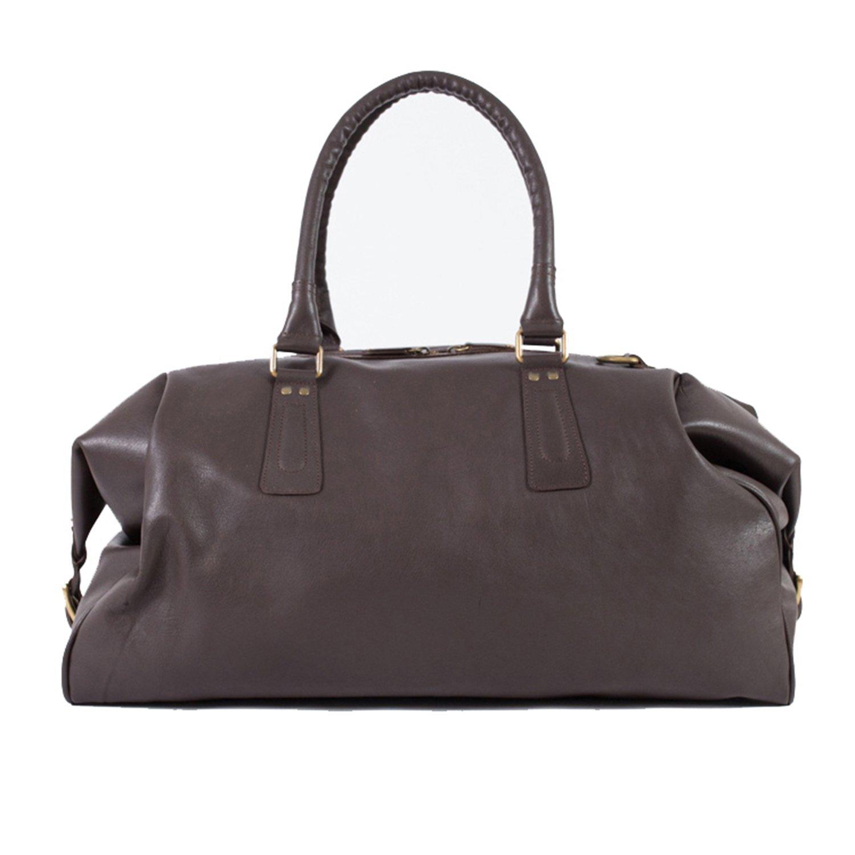 Pampa Puro  Large Chocolate Brown Handmade Leather Duffle Bag  4f347515788b0