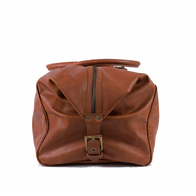 Pampa Puro  Large Tan Handmade Leather Duffle Bag   ROQUE 7e283e814d