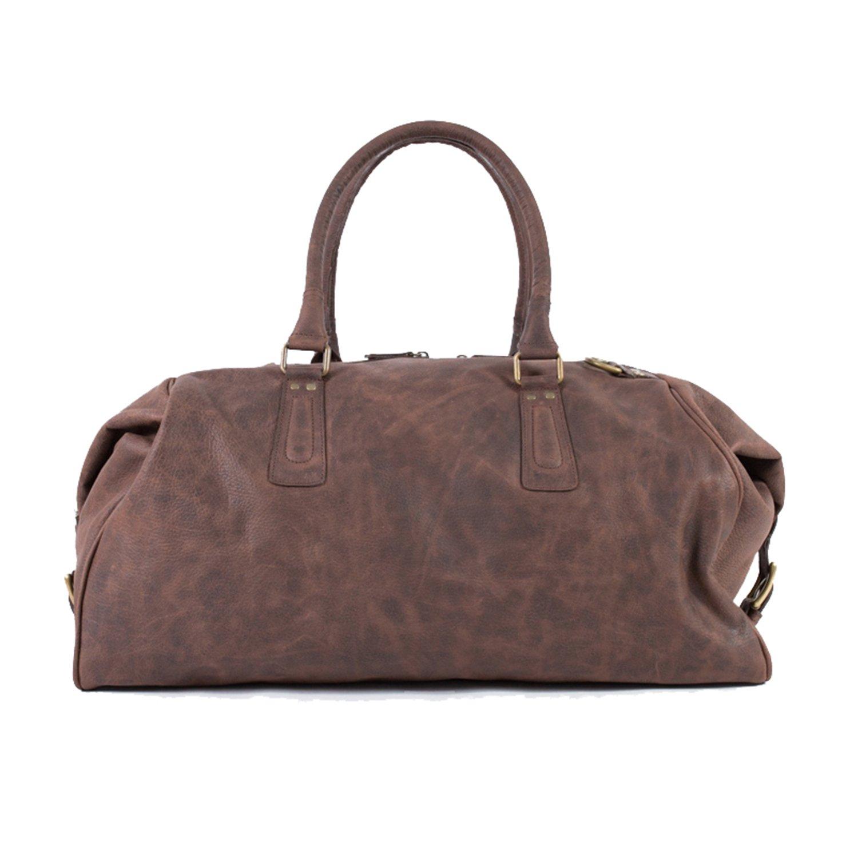 Pampa Vintage  Chocolate Brown Handmade Leather Duffle Bag  012cb744860e4