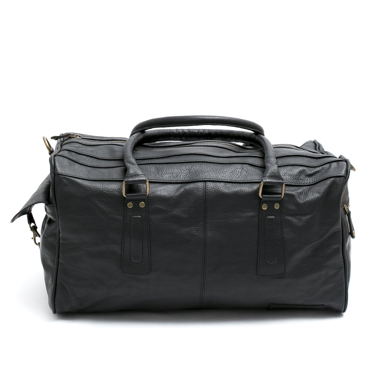 Pampa Puro  Small Black Handmade Leather Duffle Bag   ROQUE 9296091790