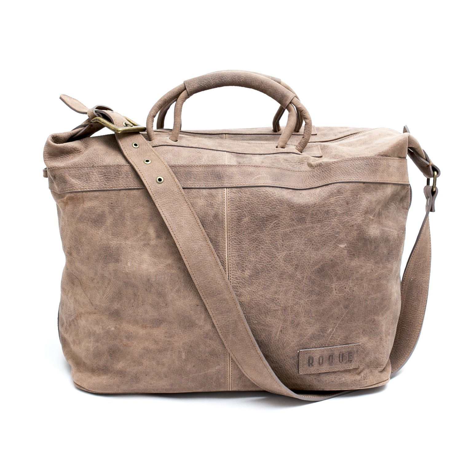 San Telmo Puro  Ecru Beige Handmade Leather Weekender Bag  64256da9d660f