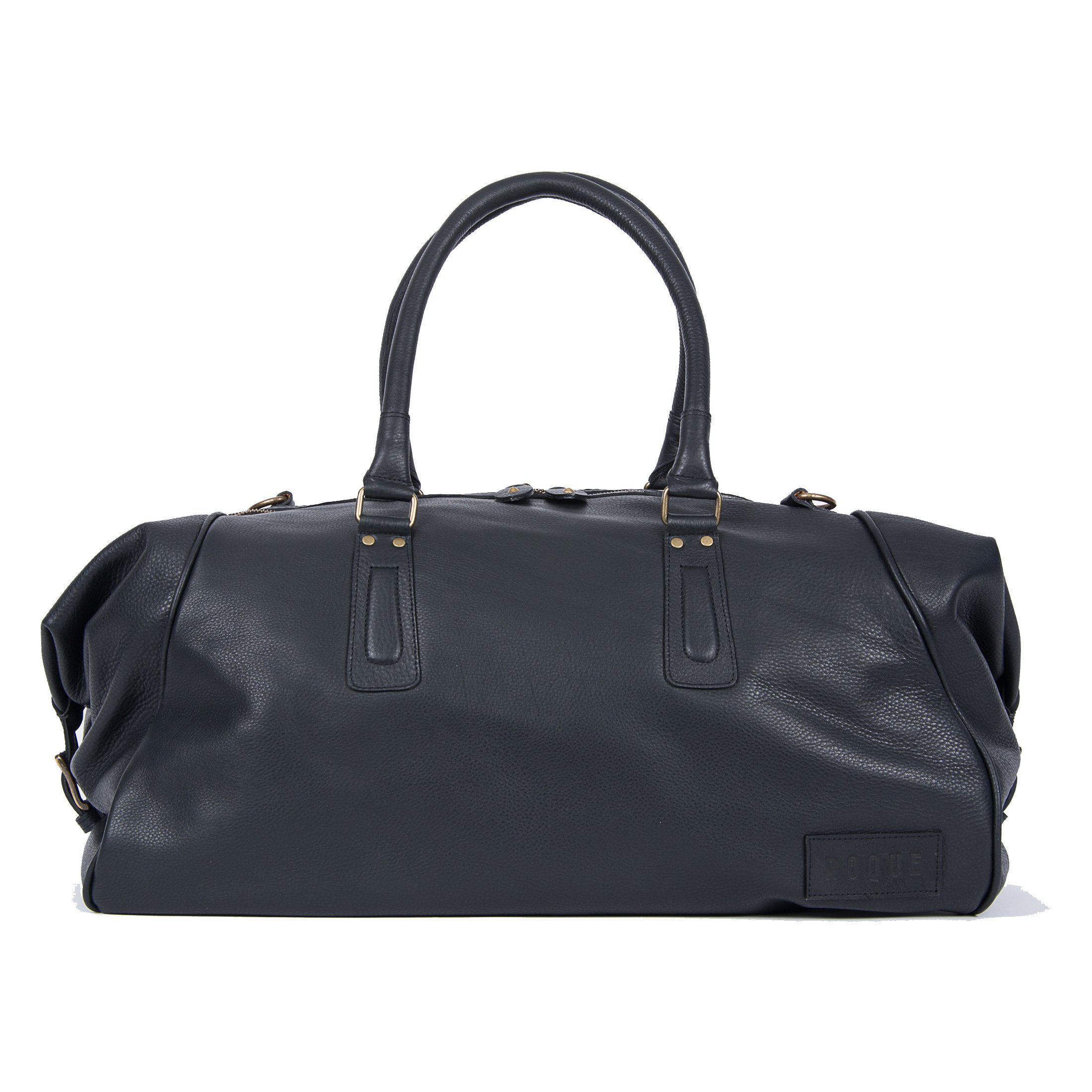Pampa Puro  Large Black Handmade Leather Duffle Bag   ROQUE 7ea127514b