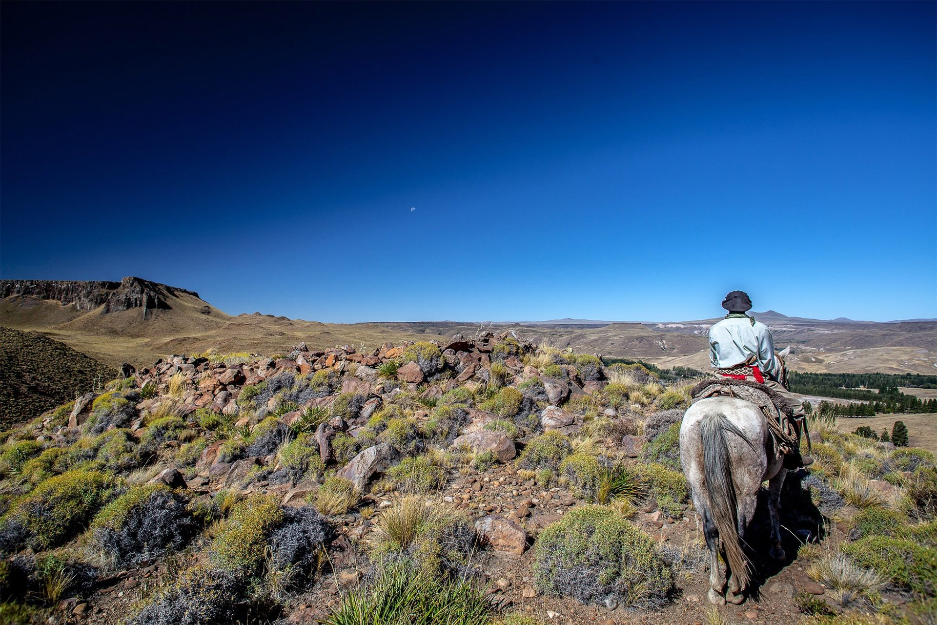 roque-bags_home-travellog_gaucho-on-a-horse-patagonia-sky-blue-colour-lucindapaxton