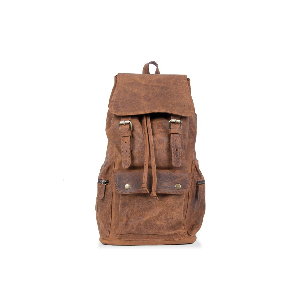 salta vintage suela leather backpack