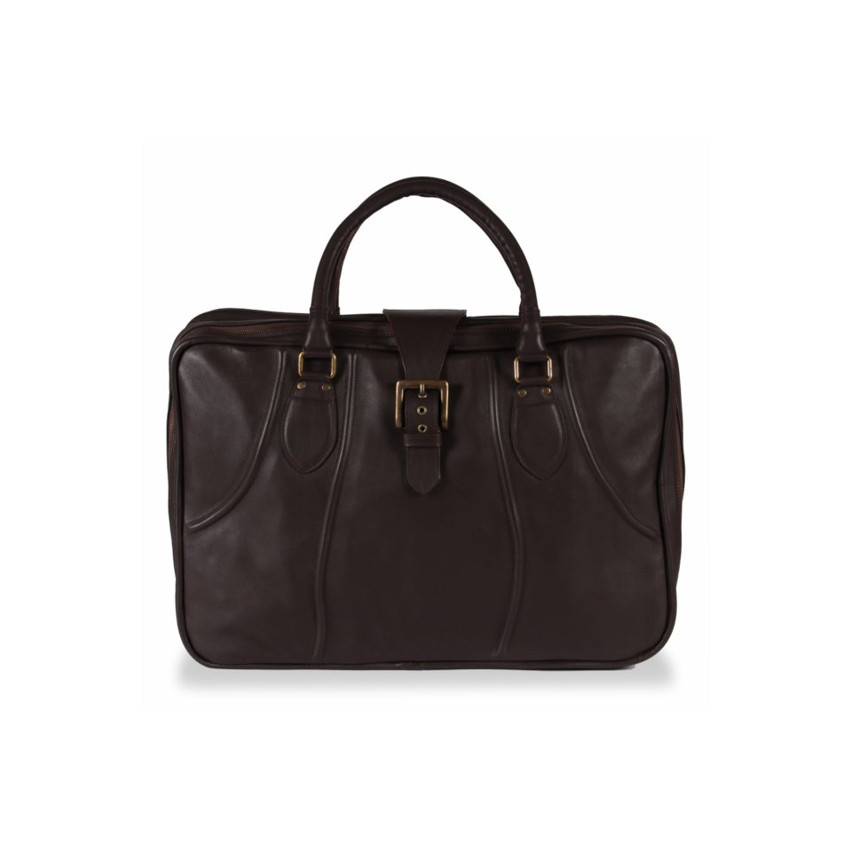 Recoleta Puro Dark-Brown Leather Suitcase