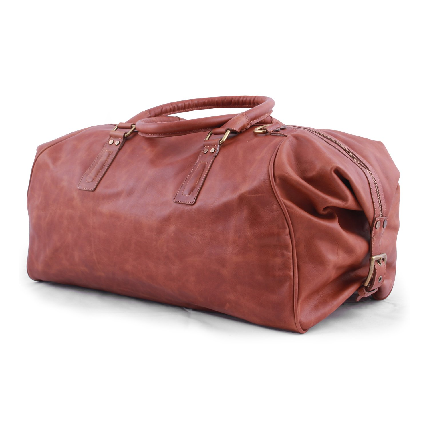Pampa Vintage Tan Large Duffle Bag