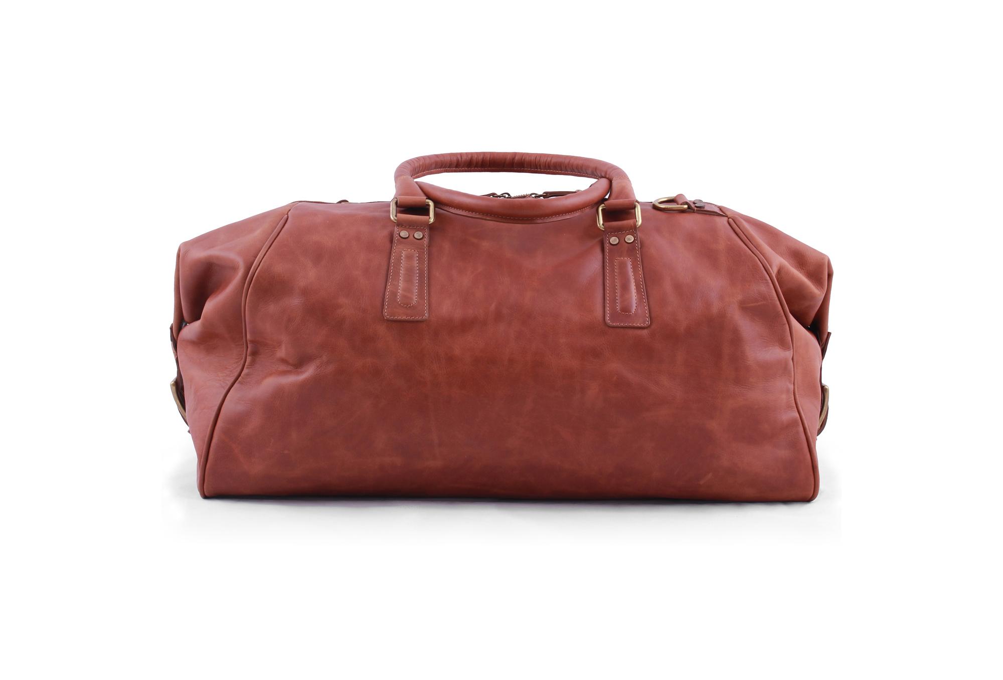 pampa puro suela leather large duffle bag
