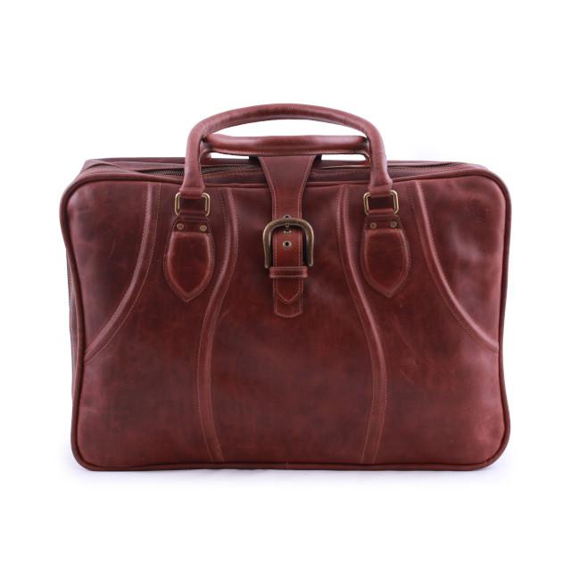 Recoleta Puro Dark-Brown Leather Suitcase